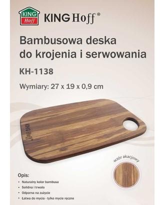 BAMBOO VIRTUVĖS LENTELĖ 27x19cm KINGHOFF KH-1138